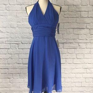Maggy London Blue Halter Dress NWT 2P